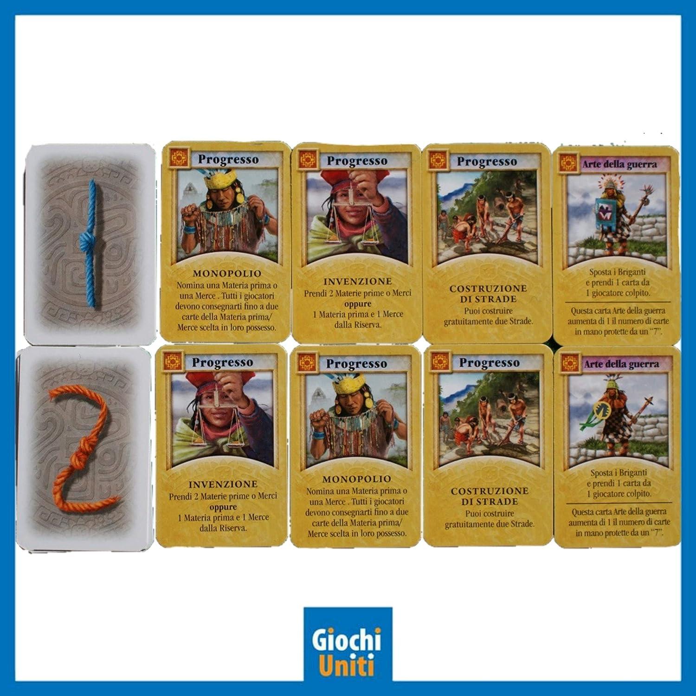 Juegos Unidos – La Los Éxitos del Inca Juego de la línea Catan con Malabares Histórica, Multicolor, 1: Amazon.es: Juguetes y juegos