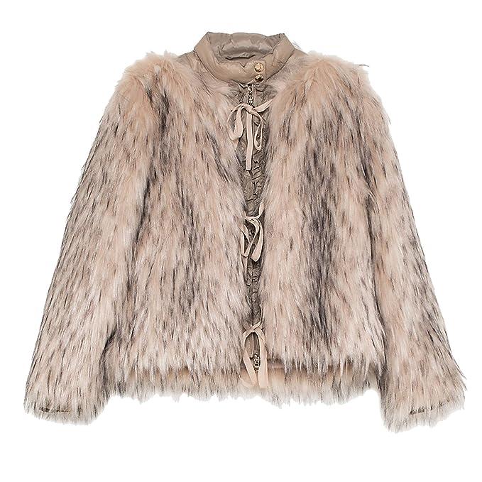 buy online 8f61b ed69c PATRIZIA PEPE Giubbino Donna Pelliccia Sintetica Natural Fox ...