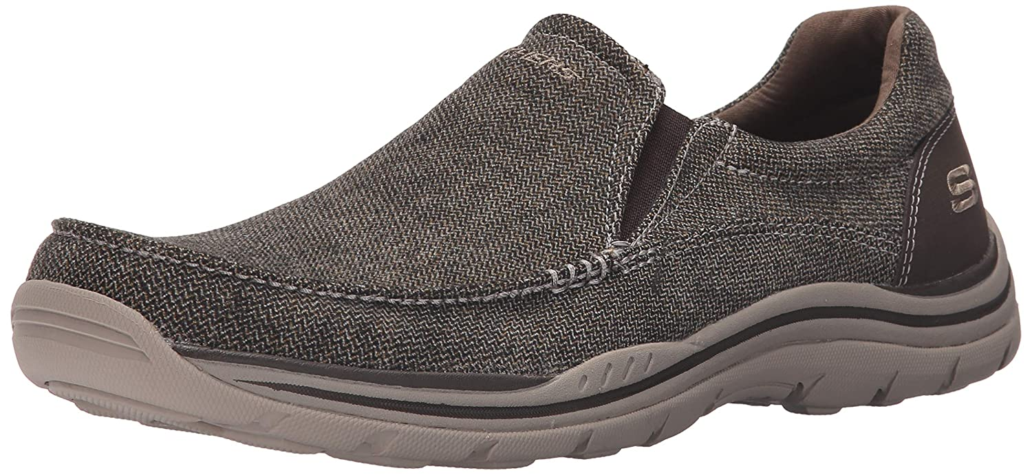 b637a480 Amazon.com | Skechers USA Men's Expected Avillo Relaxed-Fit Slip-On Loafer,  Dark Brown, 12 M US | Loafers & Slip-Ons