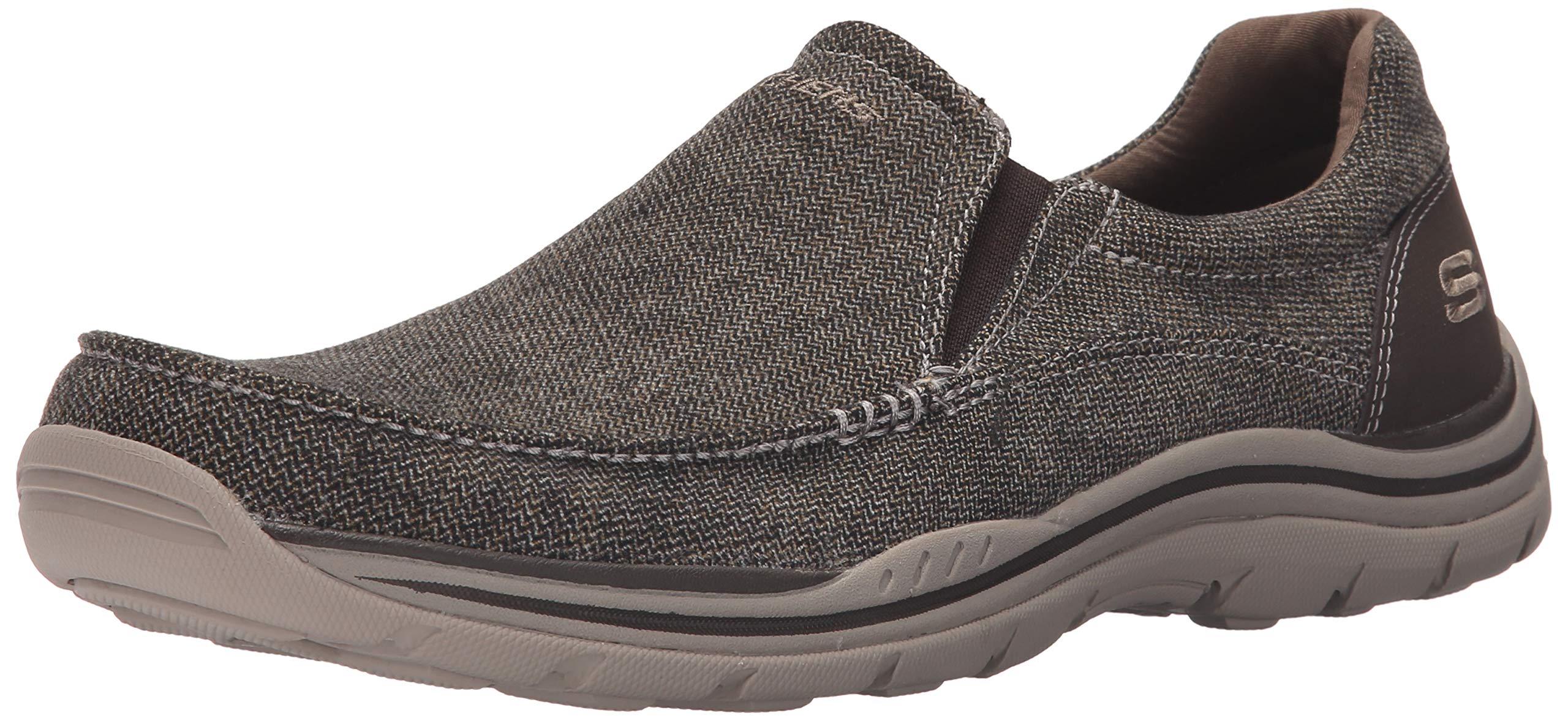 Skechers USA Men's Expected Avillo Relaxed-Fit Slip-On Loafer,Dark Brown,11.5 M US