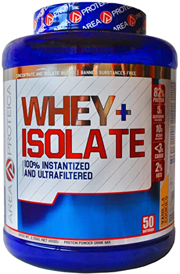 Oferta Lanzamiento! AREAPROTEICA – WHEY ISO Proteina isolate en polvo de alta absorción para incrementar la masa muscular protein, 2kg (Galleta ...
