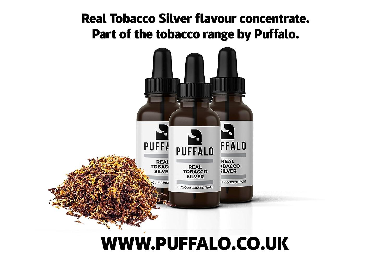 Real Tobacco Silver Flavour Concentrate for E-Cigarette E-Liquids DIY  Mixing | 30ml | Tobacco Flavour Concentrate, Tobacco Flavour Vape Juice |  NO