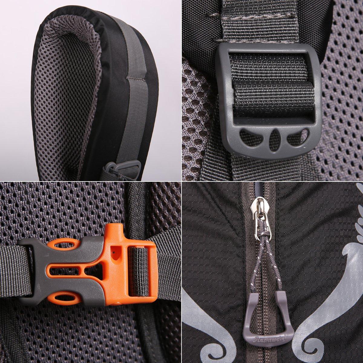 HWJIANFENG Backpack for Outdoor Sports Hiking Traveling Trekking Camping Waterproof Mountaineering Ultralarge Capacity Internal Frame Men Women 80L+5L