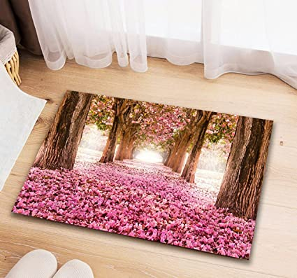 STOP N SHOPP 3D Printed Non-Slip Door Mat Set - 16 x 24 Inch 40 * 60 cm, Multicolour