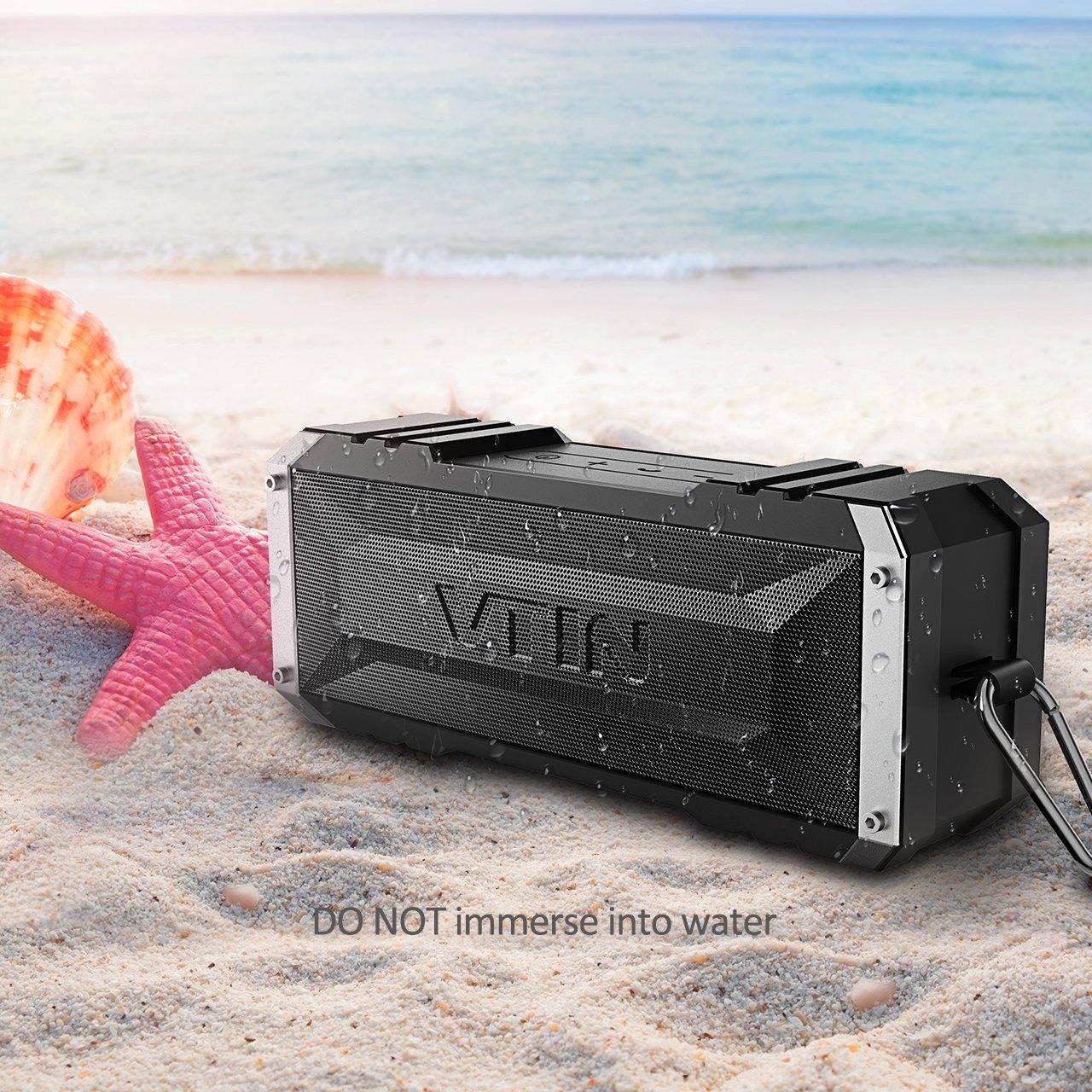 Vtin 20W Outdoor Bluetooth Speaker, Loud Volume, 30 Hours Playtime Portable Wireless Speaker, Waterproof, Dustproof, Shockproof for Indoor and Outdoor Activities - Shower, Pool, Beach, Car, Home by Vtin (Image #8)