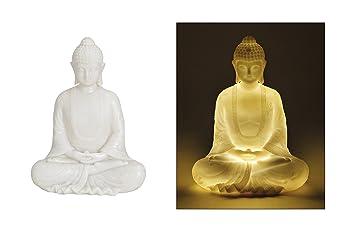 Buddha Sitzend 22cm Led Beleuchtung Buddha Statue Klein Buddha