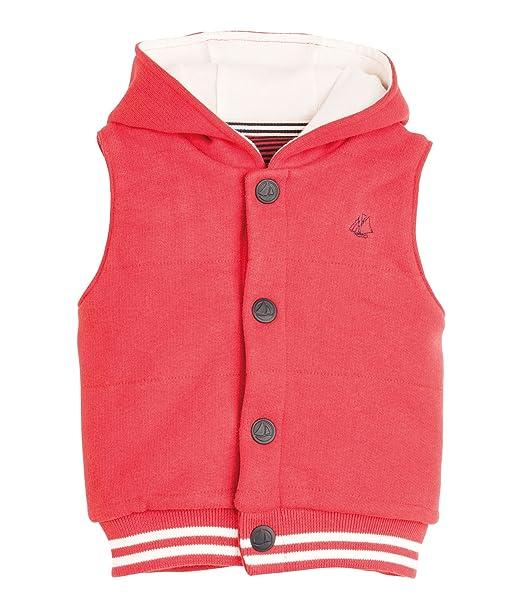 Petit Bateau - Abrigo con Cuello Barco sin Mangas para niño, Talla Taille Fabricant :