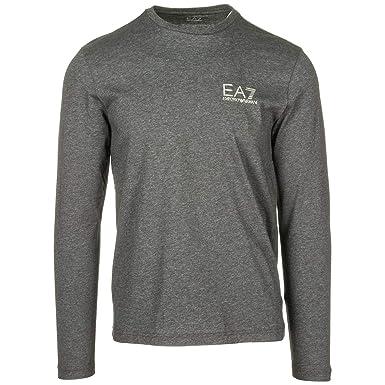b8db576a665f Emporio Armani EA7 Men s Long Sleeve t-Shirt Crew Neckline Grey UK Size M (
