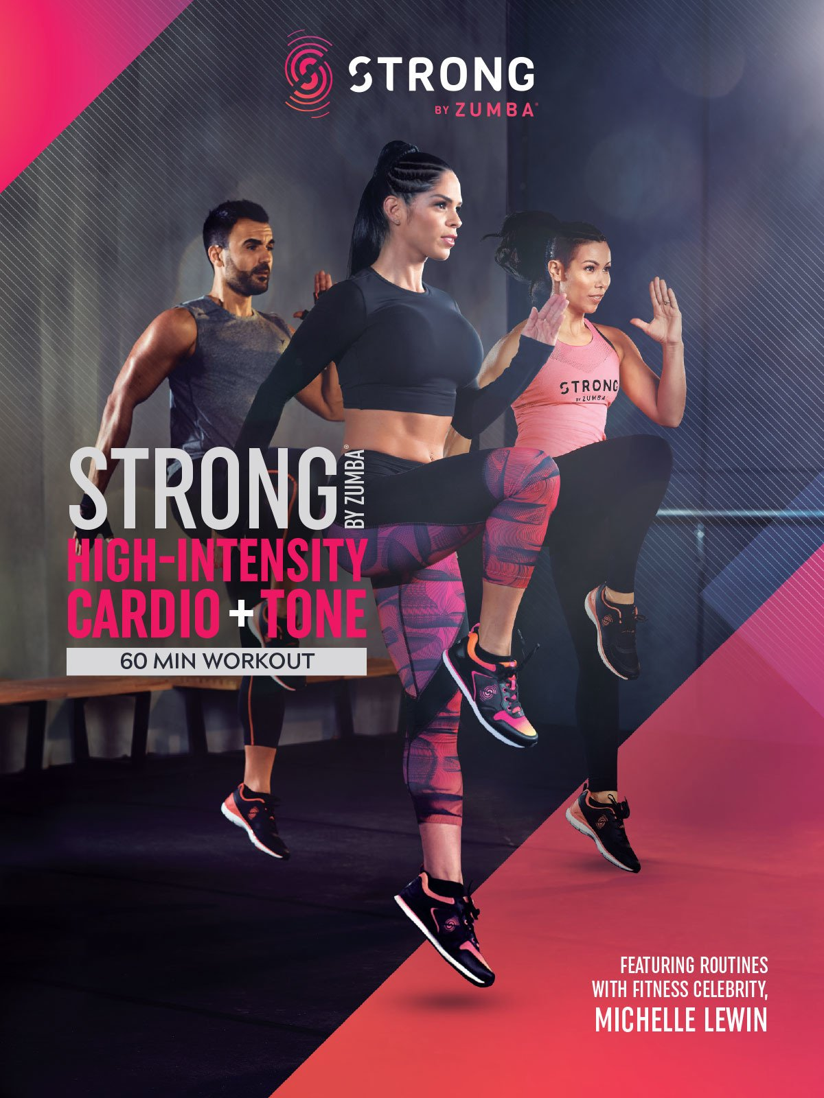 Watch Strong By Zumba High Intensity Cardio And Tone 60 Min Digital Workout Featuring Michelle Lewin Prime Video