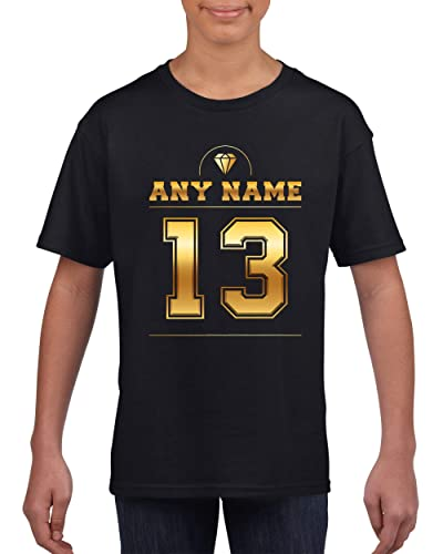 Number 13 T Shirt For Girls With Name