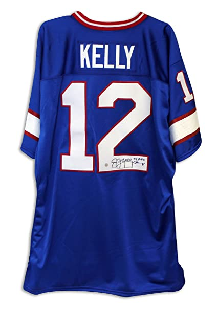 Jim Kelly Buffalo Bills Autographed Jersey Inscribed  quot 4X AFC  Champs quot  ... b7c4a204b