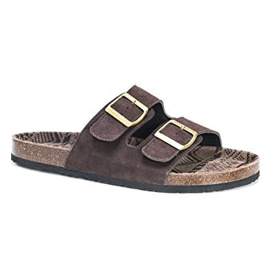 Muk Luks Men's Muk Luks Men's Parker Duo Starpped Sandal-Brown Sandal,  Brown,