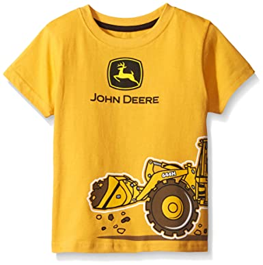 c9aa1070 Amazon.com: John Deere Boys' Toddler Short Sleeve Logo Tee, Yellow, 2T:  Clothing