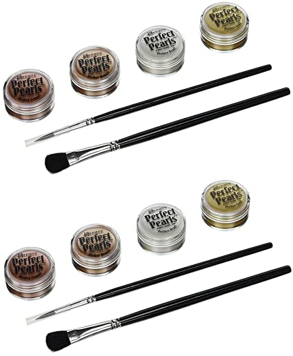 Ranger Perfect Pearls Embellishment Pigment Kit, Metallics (2 Pack)
