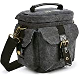 Evecase DSLR Camera Canvas Holster Bag for Canon EOS T7I, T6, T6i, T6s, T5i, T5, T4i, T3, T3i, SL1, 7D, 6D, 77D, 80D, 70D, 60D, XC10 - (Water Resistant)