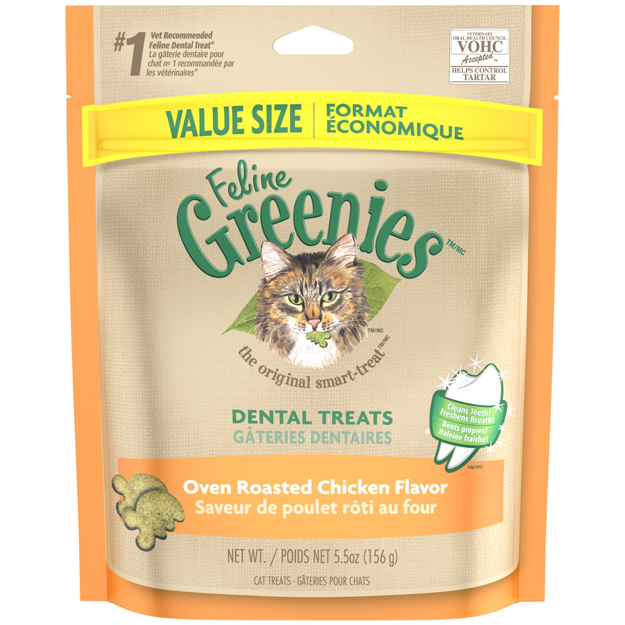 Feline GREENIES Dental Cat Treats Chicken 5.5 oz