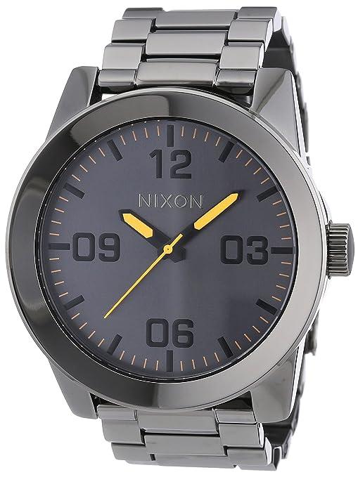 Nixon A3461235-00 - Reloj analógico de cuarzo para hombre con correa de acero inoxidable