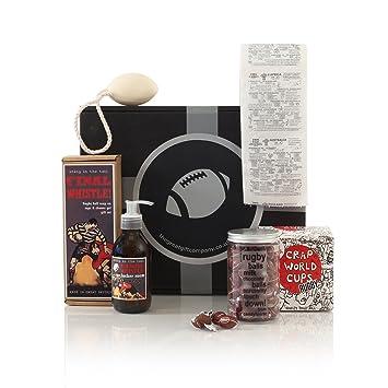 Caja de regalo para aficionados al rugby - Cestas para él ...