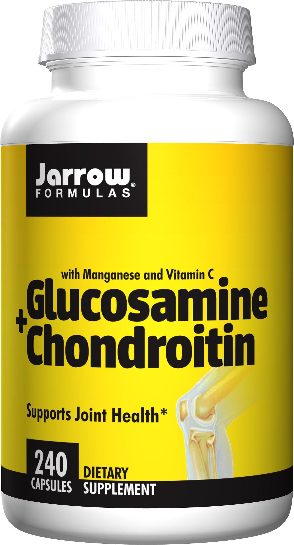 Jarrow Formulas Glucosamine and Chondroitin, Supports Joint Health, 240 Caps by Jarrow Formulas
