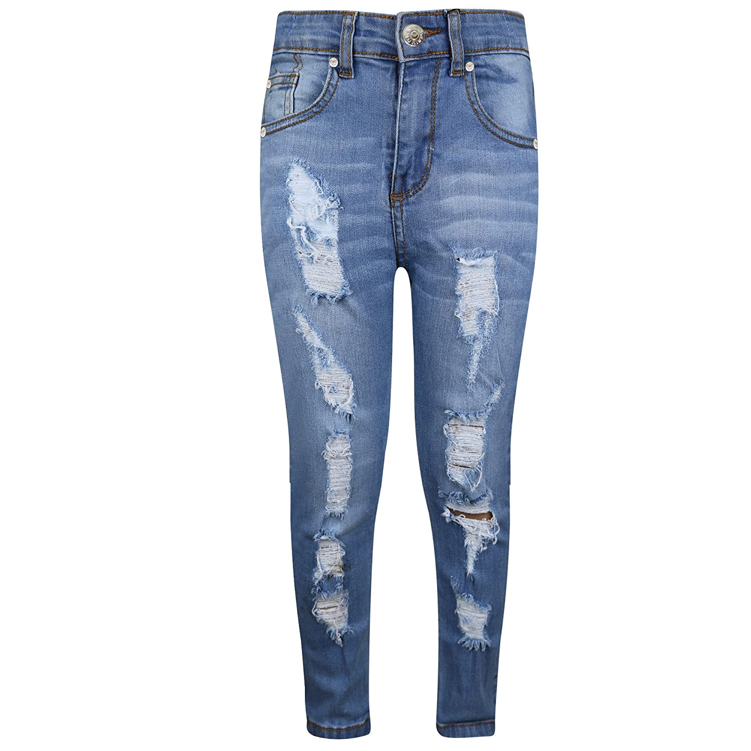 A2Z 4 Kids® Kids Stretchy Jeans Boys Jeggings Ripped Stylish Skinny Pants Fashion Trousers Age 5 6 7 8 9 10 11 12 13 Years