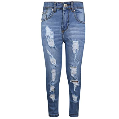 779fb767772f Amazon.com: Boys Stretchy Jeans Kids Jeggings Ripped Skinny Pants Trousers  Age 5-13 Years: Clothing