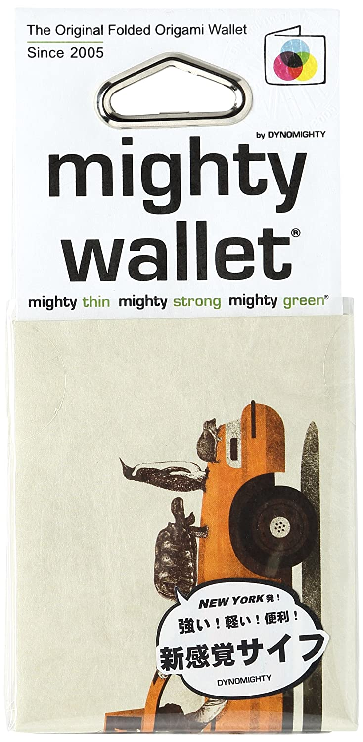 Dynomighty Mighty Tyvek Wallet billetera - 1-800-TAXI-DERMY by Jacques - Water, Stain & Tear Resistant DM/AC-JQ1