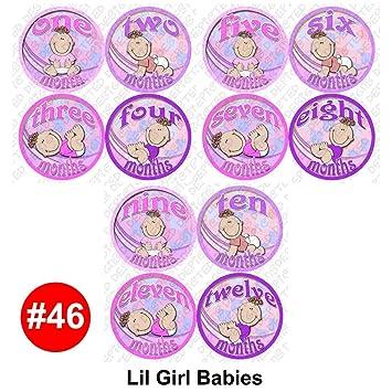 Amazoncom Girl Babies Baby Month Onesie Stickers Baby Shower Gift