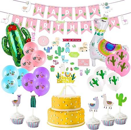 Unillama Llama Decorations Cactus Party Llama Birthday Decorations Llama Party Llama Cactus Party Llama Birthday Llama 1st Birthday