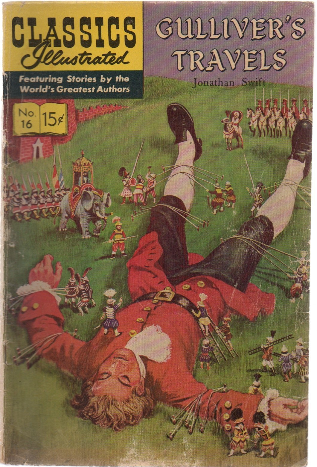 Gullivar/'s Travels by Johnathan Swift Classics Illustrated Comics