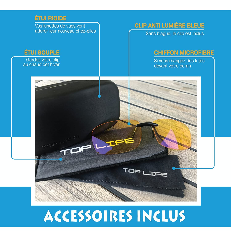 Clip Filtro Luz Azul Alta Protección - Lentes Gaming Premium Que Se Adaptan a Cualquier montura - Lentes Filtro Pantallas Ordenador - Protección Previene ...