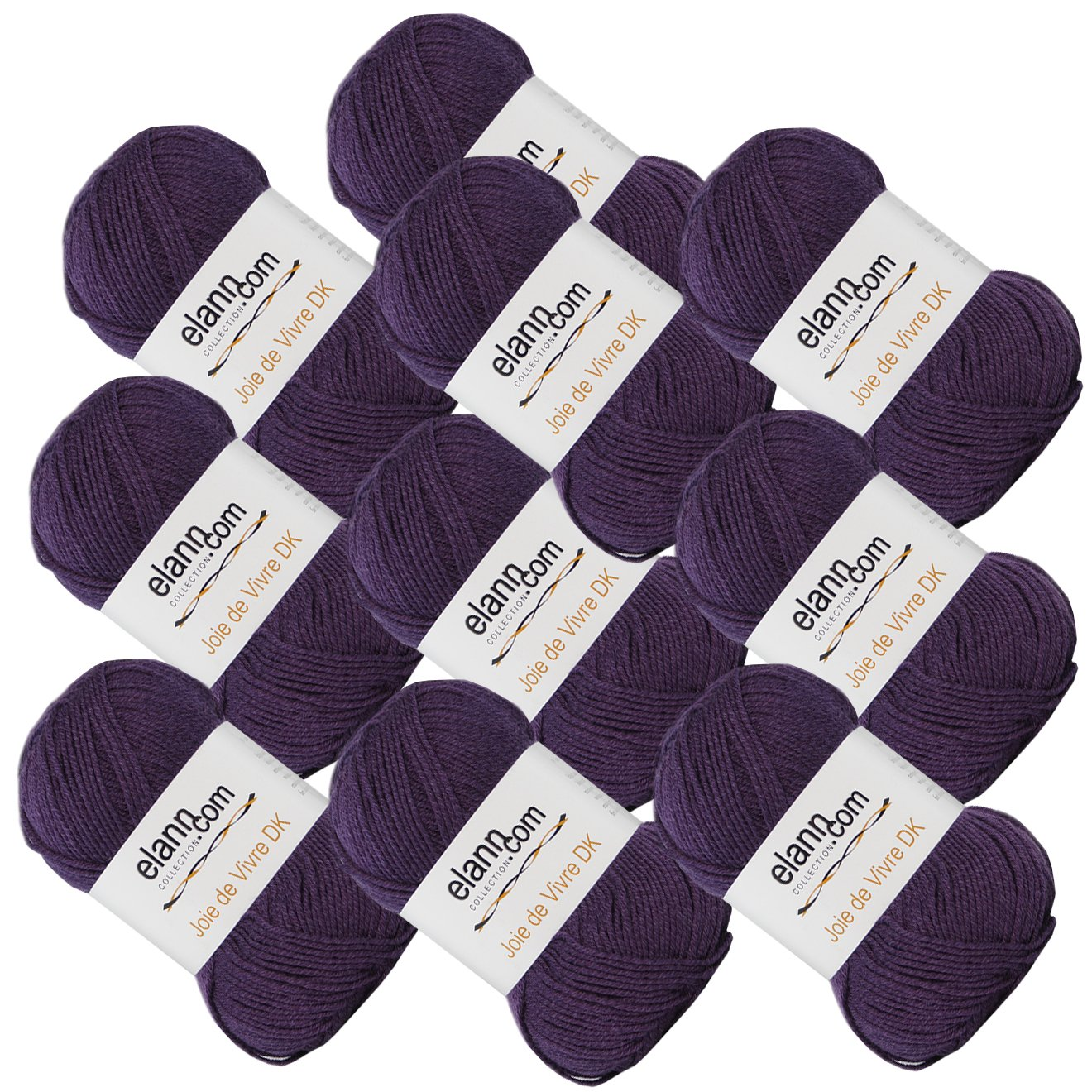 elann Joie de Vivre DK Yarn | 10 Ball Bag | 04 Plum Purple
