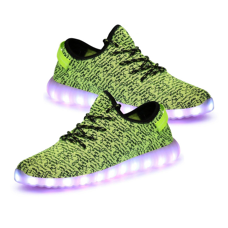 LED靴メンズレディースUSB充電ライトUp靴 B072LXNH1G 9|グリーンブラック グリーンブラック 9