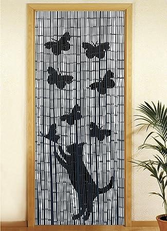 Amazon De Wenko 5123004500 Bambusvorhang Katze Und Schmetterling