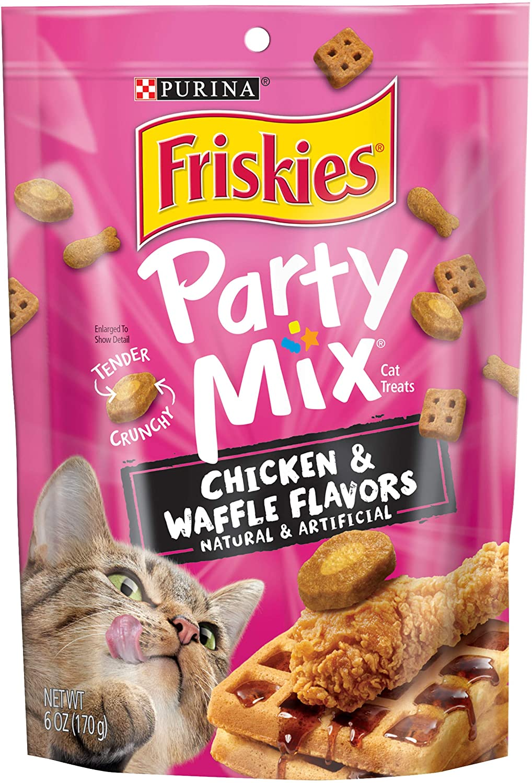 Purina Friskies Party Mix Adult Cat Treats - (6) 6 oz. Pouches