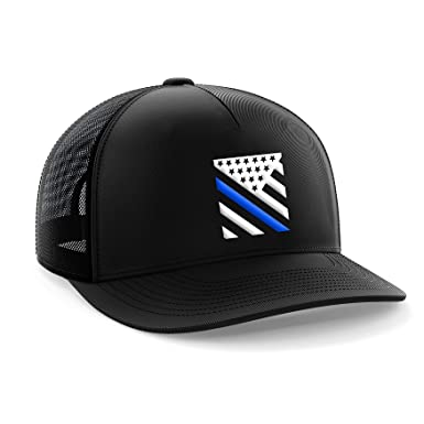 0954487defbbba Tactical Pro Supply Thin Blue Line Crest American Flag Snapback Hat ...