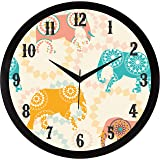 IT2M 11.75 Inches Designer Wall Clock for Home/Living Room/Bedroom / Kitchen (9215)