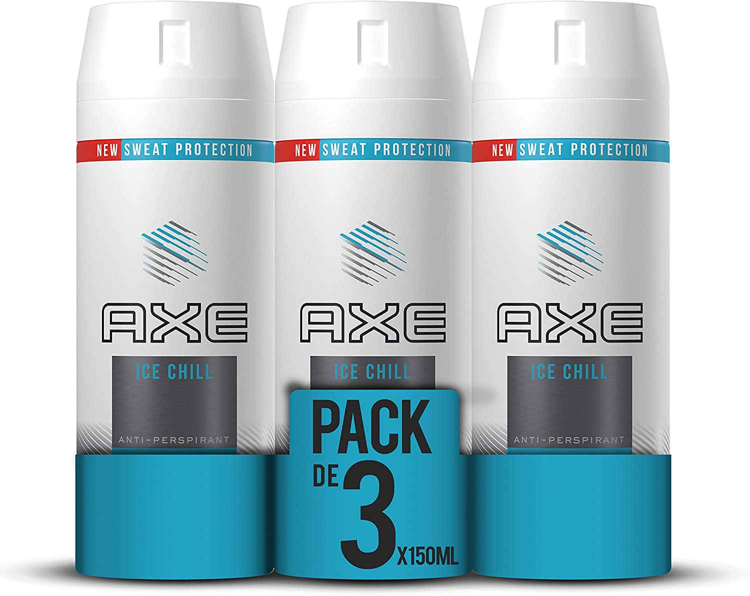 Axe Antitranspirante Ice Chill - Pack de 3 x 150ml (Total 450ml ...