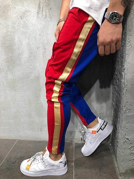 WANGMEILING-Sweatpants Pantalones de Corte Slim for Hombre ...