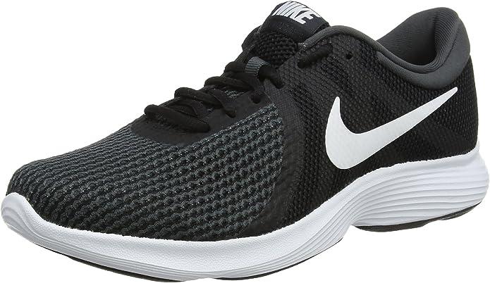 Nike Revolution 4 Sneakers Laufschuhe Damen Schwarz mit weißen Streifen