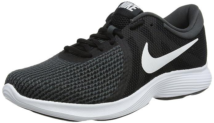 Nike Revolution 4 Damen Herren Unisex dunkelgrau mit weißem Streifen