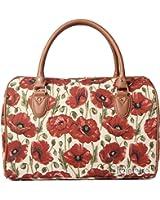 Signare Tapestry Overnight Bag/Weekend Bag/Travel Bag, Poppy