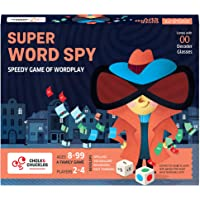 Chalk and Chuckles Super Word Spy - Word Games for Kids, Adults Age 8-99, Fun for Family Game Night, Educational Board…