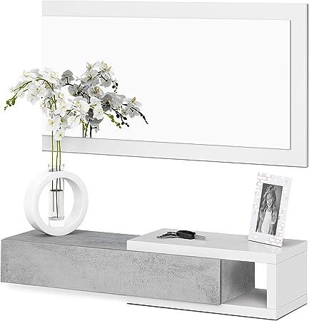 El mueble de recibidor noon es un mueble de recibidor moderno y estiloso, pensado para colgar en la