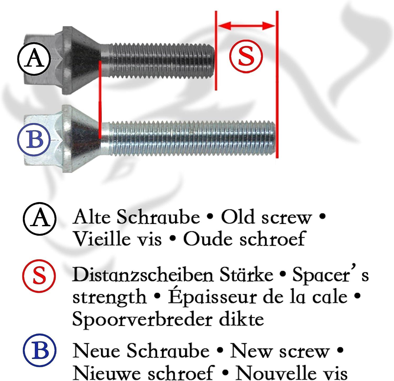 Radschrauben NJT eXtrem 790045 Spurverbreiterung Set 30mm inkl