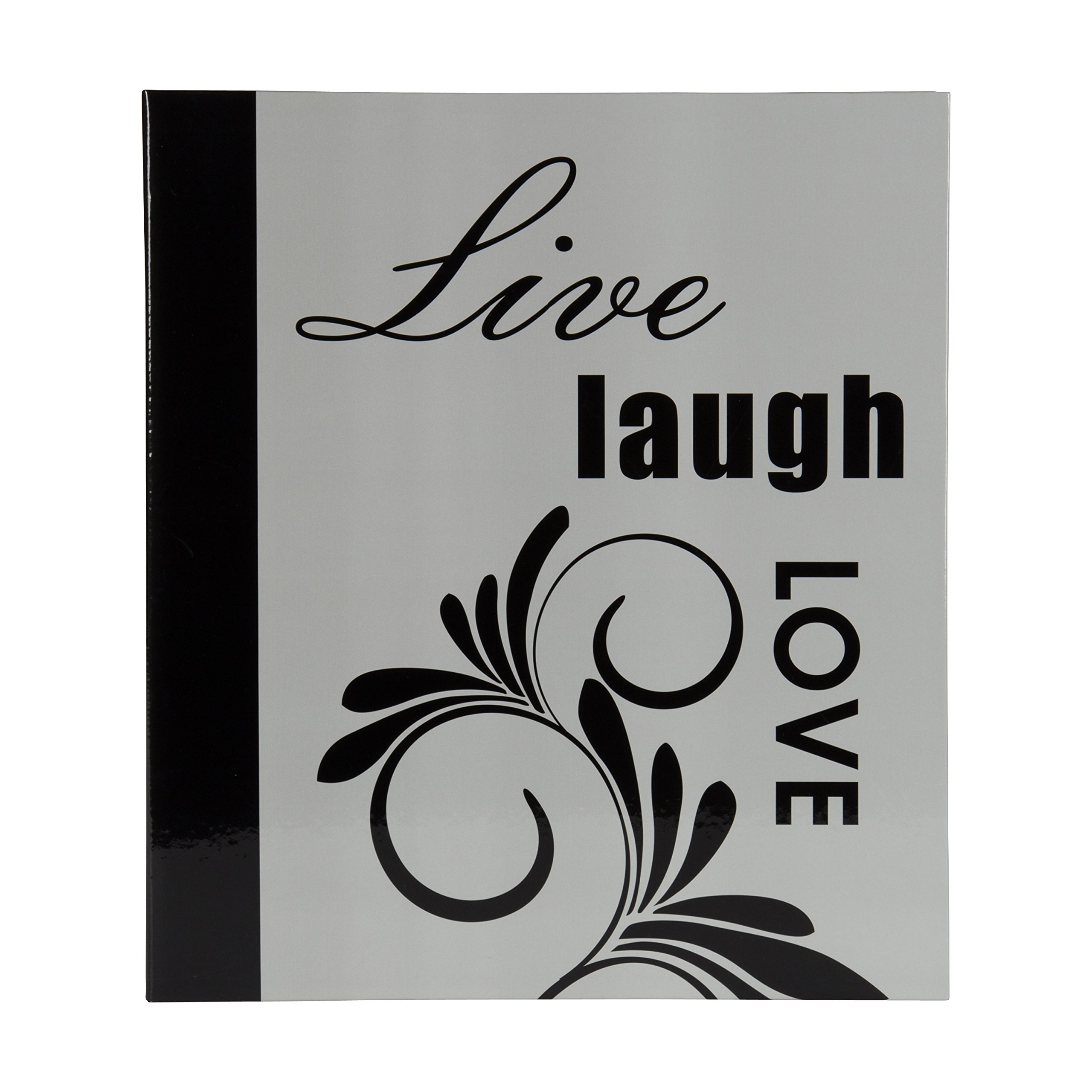 DesignOvation Live Laugh Love Expression Photo Album, Holds 440 4x6 Photos, Set of 4 by DesignOvation (Image #2)