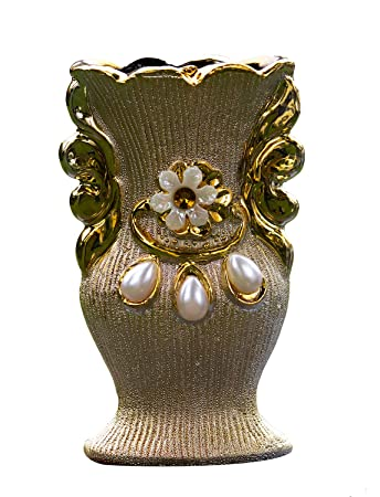 Buy Boxo Decorative Items For Home Decor Glitter Flower Pot Flower Vase For Table Golden Pack Of 1 M5 Online At Low Prices In India Amazon In