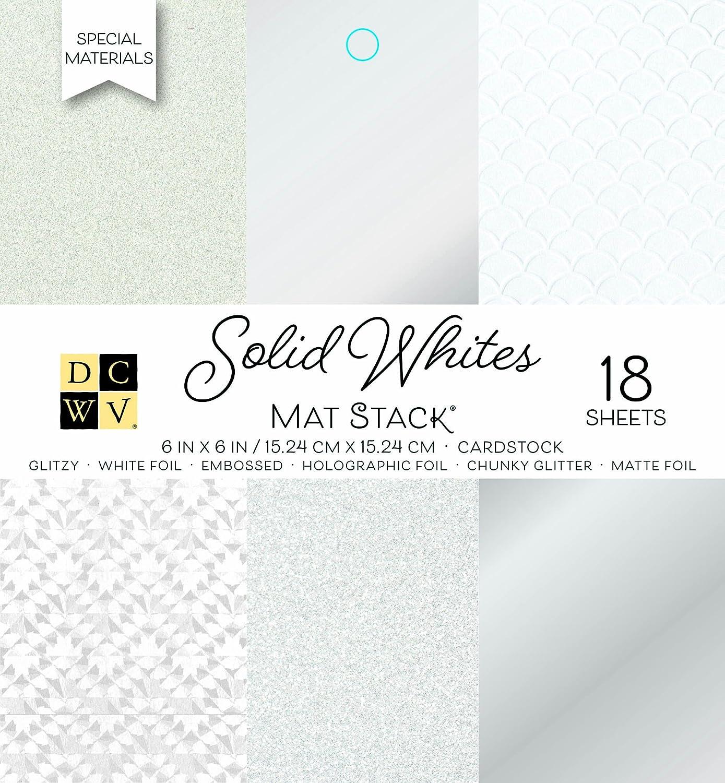 Blancos American Crafts DCWV 6/x 6 Manualidades