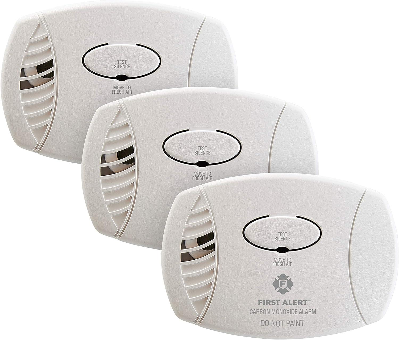 First Alert Plug-In Carbon Monoxide Detector, 3-Pack,CO600