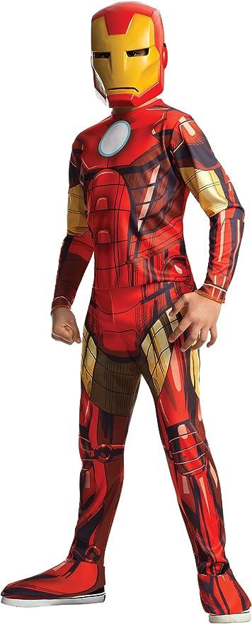 Rubies - Disfraz Iron Man Classic Infantil, 8-10 años (880607-L ...