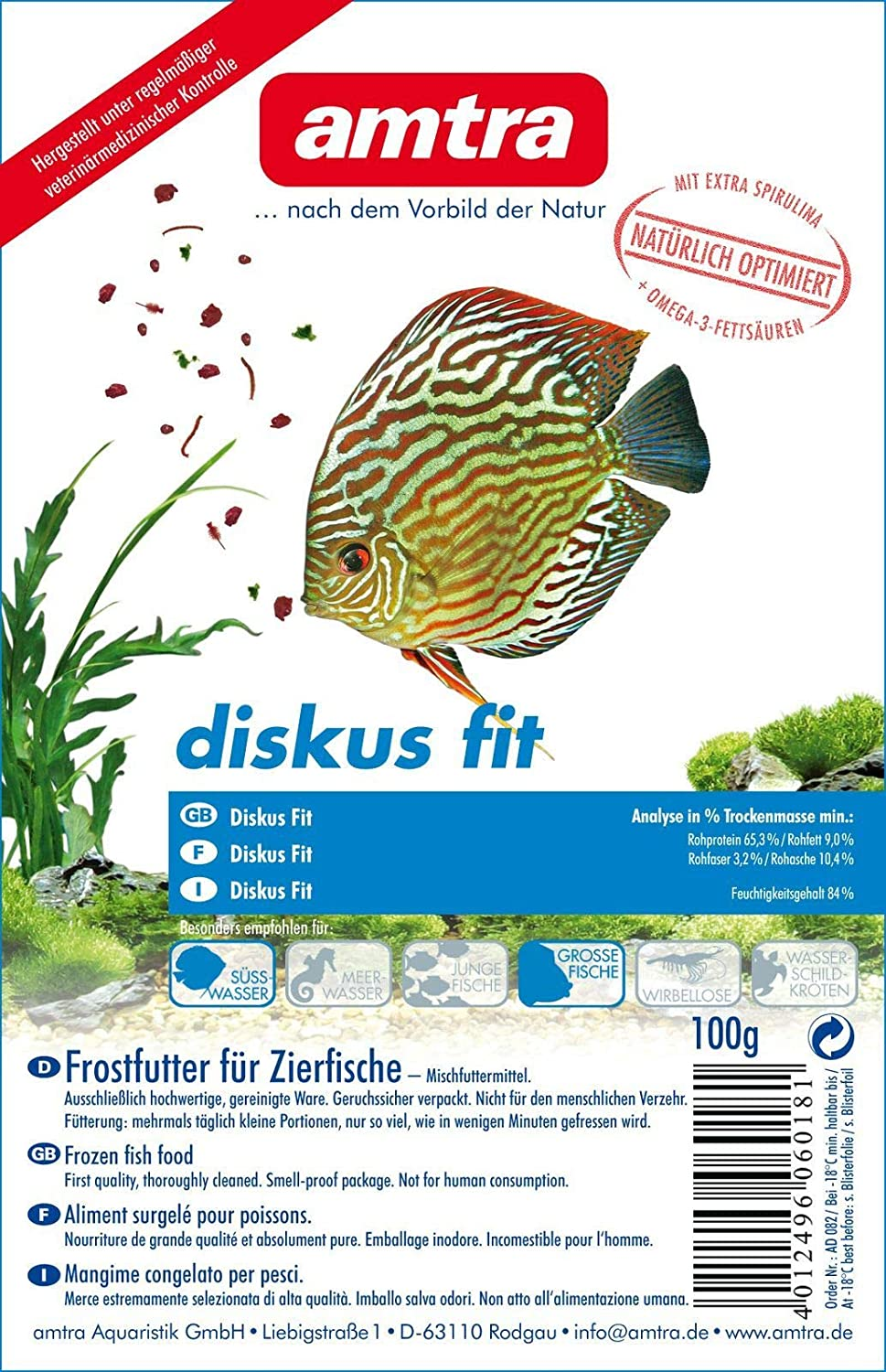 Amtra Discus Fit Blister 10 x 100 g (1 kg)